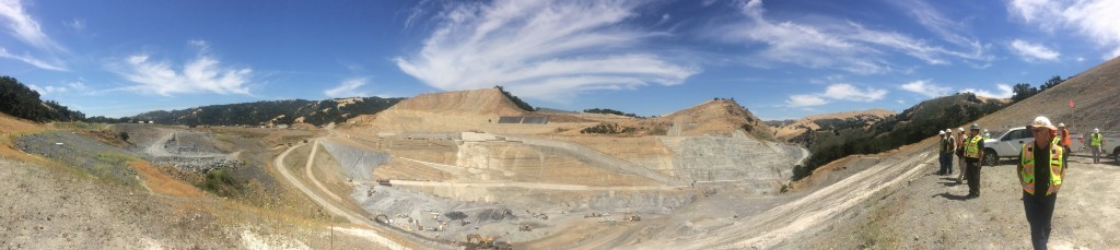 Panoramic view from the right abutment of the new Calaveras Dam.